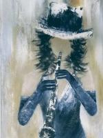 Lady aux gants bleus